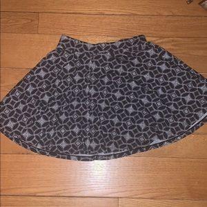 Patterned SO Skater Skirt